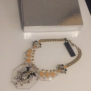 J.crew Stunning Acrylic Statement Necklace Crystal